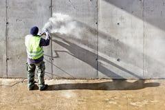 Malende muur Royalty-vrije Stock Foto's