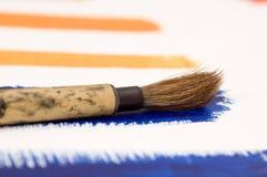Malende Orange und Blau Lizenzfreie Stockbilder