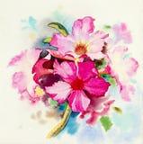 Malende realistische Blume zacken Farbe der Impala-Lilienblume aus lizenzfreie abbildung