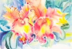 wilde orchideen blumen aquarell malerei stock abbildung bild 39110626. Black Bedroom Furniture Sets. Home Design Ideas