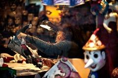 Malende venetianische Maske Stockfoto
