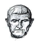 Malendes menschliches Gesicht vektor abbildung