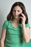 Malentendu au téléphone Images stock