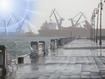 Maleon boardwalk in Veracruz port Royalty Free Stock Photo