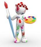 Maler. Lizenzfreies Stockbild