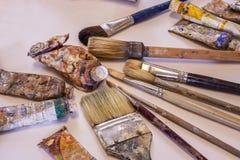 Maler Art Supplies Stockfotografie