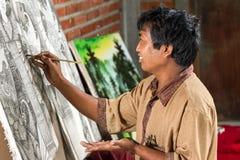 Maler bei der Arbeit Lizenzfreie Stockfotos