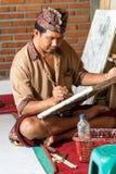 Maler bei der Arbeit Stockfoto