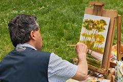 Maler bei der Arbeit Stockfotografie