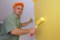 Maler in der Tätigkeit Lizenzfreie Stockfotos