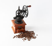 Maler manuellt kaffe för tappning Royaltyfri Bild