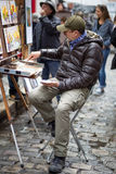Maler in Montmartre, Paris Lizenzfreies Stockbild