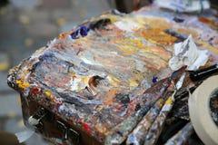 Maler Palette Stockbild