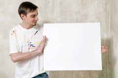 Maler ` s Anzeige, neues Meisterwerkkonzept lizenzfreie stockbilder