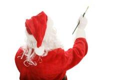 Maler Santa - Gestaltungselement stockbilder