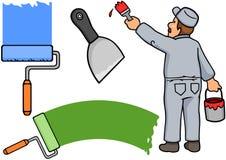 Maler und Hilfsmittel Stockfoto