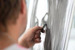 Maler und seine Kunst Stockfoto