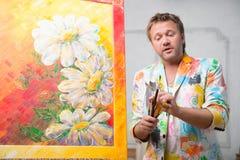 Maler und seine Kunst Lizenzfreies Stockbild