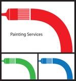 Maler-Visitenkarte Stockfotografie