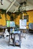 Maleratelier Stockbilder