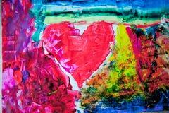Malerei-Abstraktionshintergrund des Herzens städtischer Stockbild