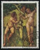 Malerei Adam und Eve Lizenzfreie Stockbilder