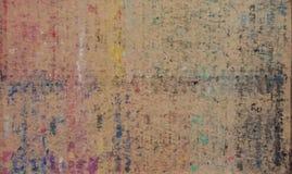 Malerei auf braunem Papier Stockfotografie