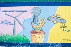 Malerei auf dem Wand environmentl Thema lizenzfreies stockfoto