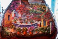 Malerei auf Vase Lizenzfreies Stockfoto