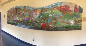Malerei an Batsons-Kinderkrankenhaus lizenzfreie stockfotos