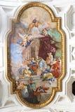 Malerei an der Basilika, Rom lizenzfreie stockfotos