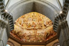 Malerei in der Kirche, in Cividale Del Friuli, Italien stockbild