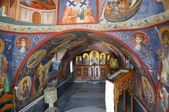 Malerei an der orthodoxen griechischen Kirche Stockfotografie