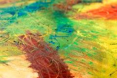 Malerei der Zusammenfassung MischungsÖlfarben auf Segeltuch Stockbild