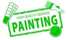 Malerei hält Logo instand Stempel von Malerei-Dienstleistungen Service-Logo der hohen Qualität Satz Reparaturwerkzeuge Lizenzfreies Stockbild