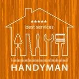 Malerei hält Logo instand Stempel von Malerei-Dienstleistungen Service-Logo der hohen Qualität Satz Reparaturwerkzeuge Lizenzfreie Stockfotos