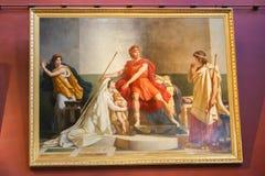 Malerei im Louvremuseum lizenzfreies stockbild