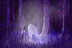 - Malerei im Wald klären Lizenzfreies Stockfoto