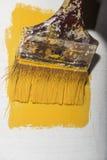 Malerei mit Gelb Lizenzfreie Stockfotos