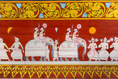 Malerei am Tempel Lizenzfreie Stockfotos