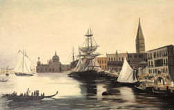Malerei Venedigs Italien Lizenzfreies Stockbild
