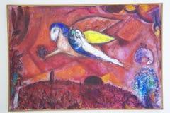 Malerei von Marc Chagall, Marc Chagall Museum, Nizza, Frankreich lizenzfreie stockfotografie