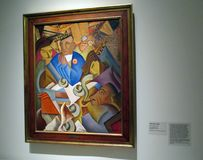Malerei von RamÃ-³ n Alva de la Canal herausgestellt im Malba-Museum der lateinamerikanischen Kunst von Buenos Aires Argentinien lizenzfreie stockbilder