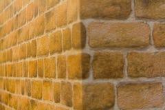 Malereibacksteinmauer Stockfoto