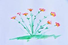 Malereiblume von der Wasserfarbe Lizenzfreie Stockfotos