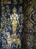 Malereien auf den Wänden am buddhistischen Tempel Lizenzfreie Stockbilder