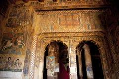 Malereien auf einer Wand einer Kirche, Äthiopien stockfoto