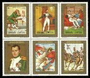 Malereien mit Napoleon Stockbilder