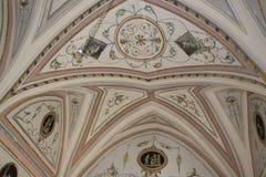 Malereien in Palast Doxi Fontana in Gallipoli (Le) Lizenzfreies Stockfoto