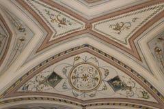 Malereien in Palast Doxi Fontana in Gallipoli (Le) Lizenzfreies Stockbild